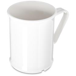 Carlisle Polycarbonate Handled Mugs, 9.6 Oz, White, Pack Of 48 Mugs