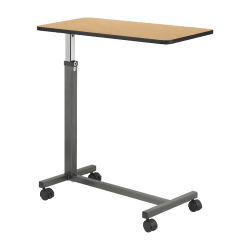 "Hausmann Overbed Table, Four 1 1/2"" Casters, 28""-45"" x 15"" x 30"", Walnut"