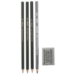 Prismacolor® Design Drawing Pencil Set, 4 Pencils, 1 Eraser