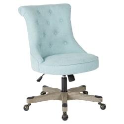 Office Star™ Hannah Tufted Office Chair, Mint/Gray
