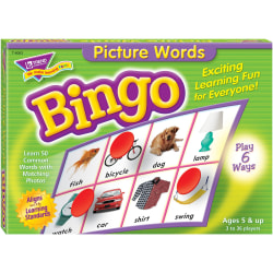 Trend Picture Words Bingo Game - Educational - 3 to 36 Players - 301 / Each