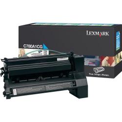 Lexmark™ C780A1CG Return Program Cyan Toner Cartridge