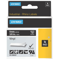 DYMO® White on Black Color Coded Label, LJ7444