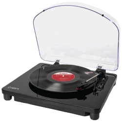 ION Air LP IT55 Record Turntable - Piano Black - Bluetooth - Auxiliary Audio In - Audio Line Out - USB