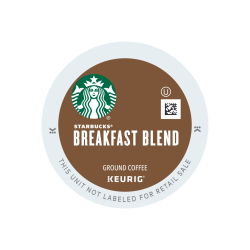 Starbucks® Breakfast Blend Coffee Single-Serve K-Cup®, 2.8 Oz, Carton Of 24