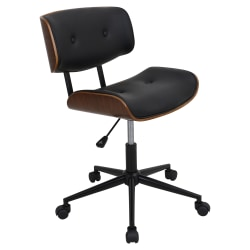 LumiSource Lombardi Office Chair, Black/Chrome