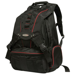 """Mobile Edge Premium MEBPP7 Carrying Case (Backpack) for 17"""" to 17.3"""" Apple Notebook - Red, Black - Ballistic Nylon - Shoulder Strap - 21"""" Height x 16"""" Width x 7"""" Depth"""