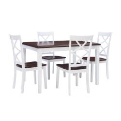 Powell Howard 5-Piece Dining Set, White/Cherry