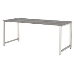 "Bush Business Furniture 400 Series 72""W x 30""D Table Desk, Platinum Gray, Standard Delivery"
