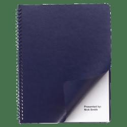 "GBC® Regency 40% Recycled Round Corners Presentation Binding Covers, 8 3/4"" x 11 1/4"", Navy, Box Of 200"