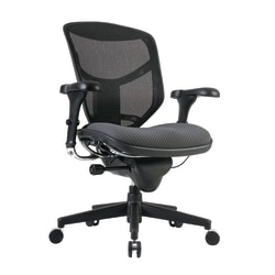 WorkPro® Quantum 9000 Series Mesh/Fabric Ergonomic Mid-Back Manager's Chair, Gray/Black