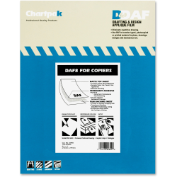Chartpak Pickett Drafting Applique Film With Film Backing, Permanent, Box Of 100