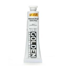 Golden Acrylic Paint, Fine, 2 Oz, Iridescent Bright Gold