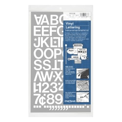 "Chartpak Pickett Vinyl Letters And Numbers, 1"", White"