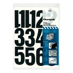 "Chartpak Pickett Vinyl Numbers, 4"", Black"