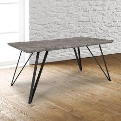 "Flash Furniture Rectangular Dining Table, 29-1/4""H x 31-1/2""W x 63""D, Faux Concrete"
