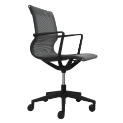 Eurotech Kinetic Mesh Task Chair With Flex Back, Black