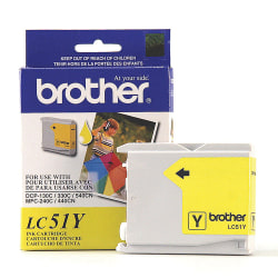 Brother® LC51Y Yellow Ink Cartridge