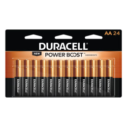 Duracell® Coppertop Alkaline AA Batteries, Pack Of 24 Batteries