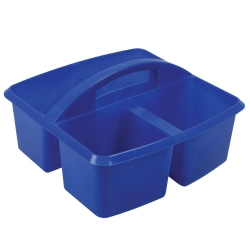 "Romanoff Small Utility Caddies, 9 1/4""H x 9 1/4""W x 5 1/4""D, Blue, Pre-K - College, Pack Of 6"