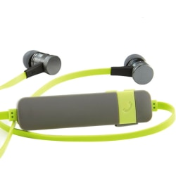 Verbatim Bluetooth Stereo Earphones with Microphone - Green - Stereo - Wireless - Bluetooth - 16 Ohm - 20 Hz - 20 kHz - Earbud, Behind-the-neck - Binaural - In-ear - Green