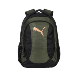 "Puma Evercat Equivalence Backpack With 12"" Laptop Pockets, Dark Green"