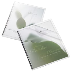 "Office Depot® Brand Binding Cover, 8 1/2"" x 11"", Clear Gloss, Pack Of 20"