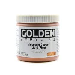 Golden Acrylic Paint, Fine, 16 Oz, Iridescent Copper Light