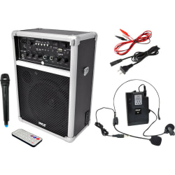Pyle PWMA170 Public Address System - 400 W Amplifier - Built-in Amplifier - USB Port - Battery Rechargeable