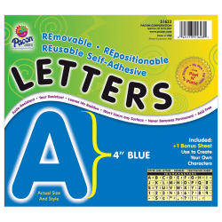 "Pacon® Self-Adhesive Letters, 4"", Blue, Pack Of 78"