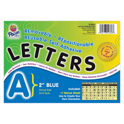 """Pacon® Self-Adhesive Letters, 2"""", Blue, Pack Of 159"""