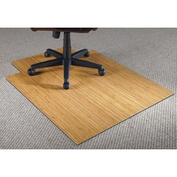 """Realspace® Bamboo Chair Mat, 36""""W x 48""""D, 3/16"""" Thick, Natural"""