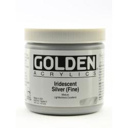 Golden Acrylic Paint, Fine, 16 Oz, Iridescent Silver