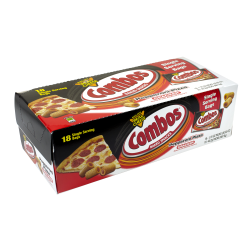 Combos Pepperoni Pizza Cracker Baked Snacks, 1.8 Oz, Pack Of 18