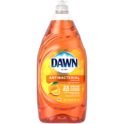 Dawn® Ultra Antibacterial Hand Soap Dishwashing Liquid Dish Soap, Orange Scent, 40 Oz, Pack of 8 Bottles