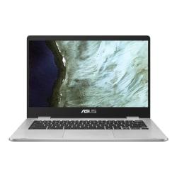 "Asus Chromebook C423 C423NA-DH02 14"" Chromebook - 1366 x 768 - Intel Celeron N3350 Dual-core (2 Core) 1.10 GHz - 4 GB RAM - 32 GB Flash Memory - Silver - Chrome OS - Intel HD Graphics - 10 Hour Battery Run Time - IEEE 802.11ac Wireless LAN Standard"