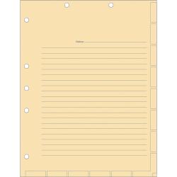 "Tabbies 7-hole Manila Chart Divider Sheets - 8.5"" Divider Width x 11"" Divider Length - 7 Hole Punched - Manila Divider - 400 / Box"
