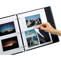 """Photo Holders For Three-Ring Binders, 9"""" x 11"""", Box Of 50"""