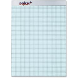 "TOPS Prism Perforated Pads, 8 1/2"" x 11 3/4"", Quadrille Ruled, 50 Sheets, Blue, Pack of 12 Pads"
