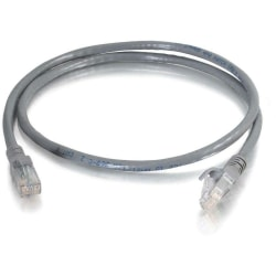 C2G 7 ft Cat6 Snagless Unshielded (UTP) Network Patch Cable (TAA) - Gray - Category 6 for Network Device - RJ-45 Male - RJ-45 Male -TAA Compliant - 7ft - Gray