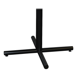 "Lorell® Hospitality X-Leg Caf� Height Table Base, 36""W, Black"