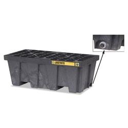 EcoPolyBlend Spill Control Pallets, Black, 66 gal, 25 in x 49 in, w/Drain