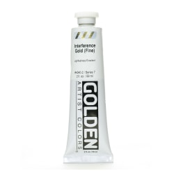 Golden Acrylic Paint, Fine, 2 Oz, Interference Gold