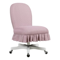 Linon Home Decor Products Penny Fabric Mid-Back Home Office Chair, Pink/Gray Wash