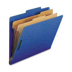 Nature Saver 2-Divider Classification Folders, Letter Size, Dark Blue, Box Of 10