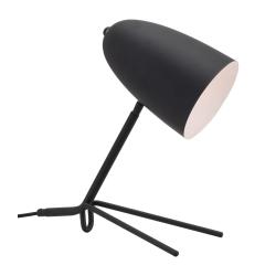 """Zuo Modern Jamison Table Lamp, 15""""H, Matte Black Shade/Matte Black Base"""