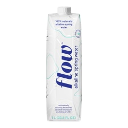 Flow Hydration Alkaline Spring Water, 34 Oz, Unflavored, Pack Of 12