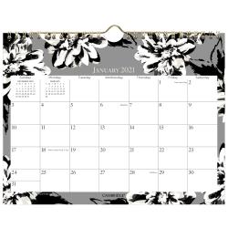 "Cambridge® Amelia Monthly Wall Calendar, 11"" x 8-1/2"", January To December 2021, 1460-709"