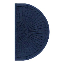 "M + A Matting Waterhog Eco Grand Premier Half-Oval Floor Mat, 48"" x 27 5/8"", Indigo"