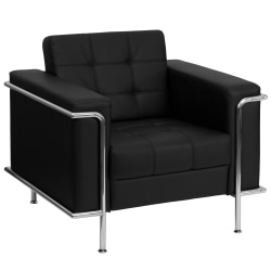 Flash Furniture Hercules Lesley Contemporary Bonded LeatherSoft™ Chair, Black/Silver